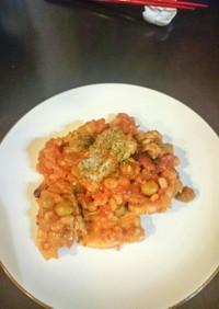 豚バラと豆のトマト煮込み