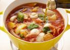 トマトチキンのオリーブオイル鍋