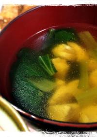 鶏と小松菜のうまうまスープ☆