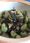 枝豆と塩昆布の簡単胡麻和え♬