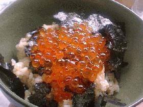 イクラ&めんたい丼