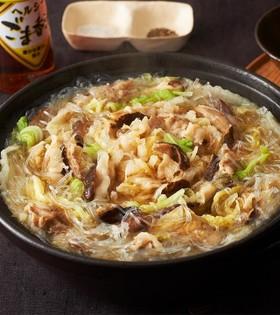 ごま香る白菜と豚肉の鍋