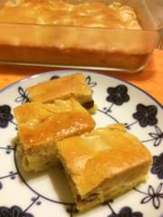 スイートポテト&りんごケーキの二層焼きの写真