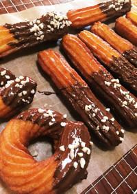 簡単チュロス☆さくさくクッキータイプ