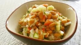 納豆の和風サラダ