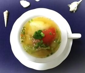 サラダ味噌スープ♪