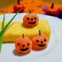 ハロウィン☆大根と人参おろしでかぼちゃ♪
