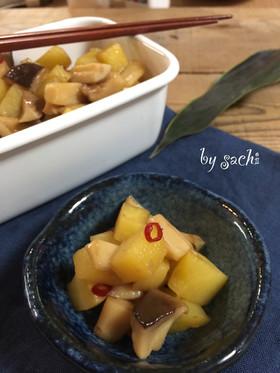【作り置き】エリンギとポテトのピリ辛炒め