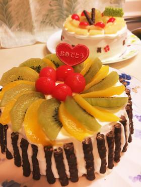 ケーキデコレーション簡単