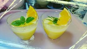 オレンジミルクプリン