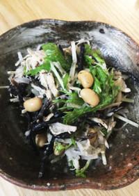 【痛風対策】ひじきと大根とささみのサラダ