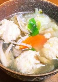 香味ペーストで簡単!鶏団子のスープ