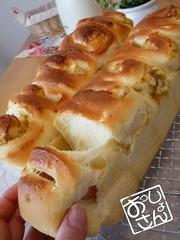 ふっくらもっちり生地のおかずパンの写真