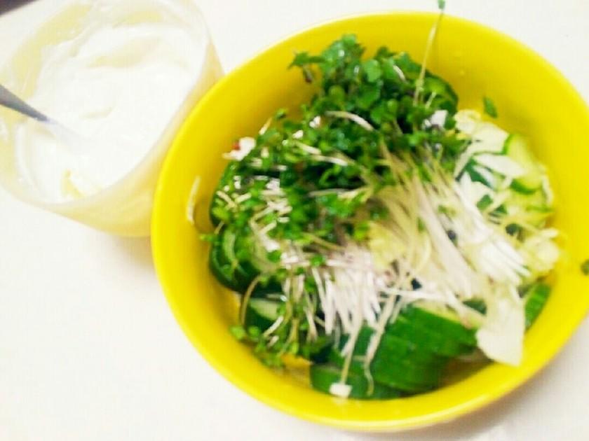 塩ヨーグルトブロッコリースプラウトサラダ