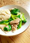 小松菜と豚肉の生姜あんかけゴハン