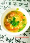 パクチー(香菜)入りトマト卵の中華スープ