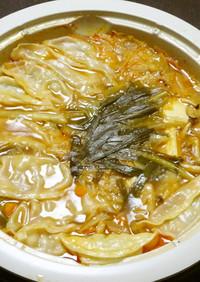 ダシダを使った韓国風餃子鍋