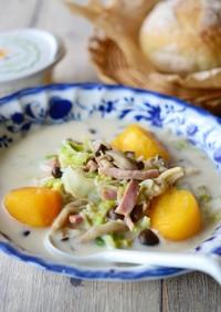 白菜ときのこの食べる和風味噌スープ鍋