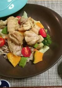 簡単☆グリーンカレーの温野菜サラダ