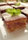 フライパンで作るカシスチーズケーキ