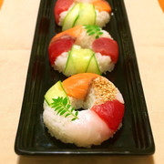 キュートなスシド☆簡単!寿司ドーナツの写真