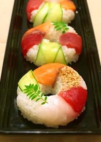 キュートなスシド☆簡単!寿司ドーナツ