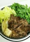 関西風すき焼き式の野菜たっぷり肉豆腐