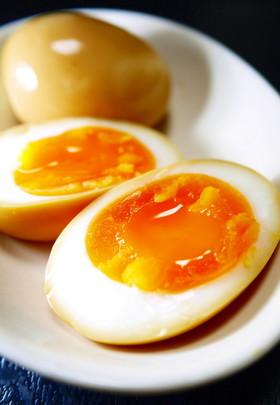 ラーメンにも♪すき焼きのたれ半熟味付け卵