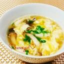 炊き込みやお寿司に♡きのこの卵スープ♡
