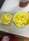 ジンジャーシロップとレモンシロップ