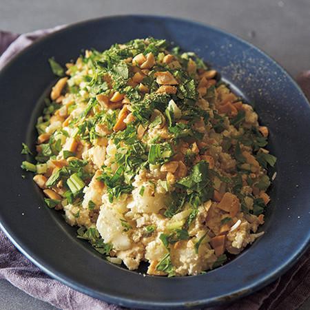 くずし豆腐の中華風サラダ