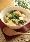 ダシダで!なめこと豆腐と卵のスープ