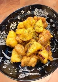 簡単♫サツマイモと鶏の蜜マヨ炒め♫