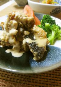 秋刀魚の竜田揚げ☆バルサミコマヨネーズで