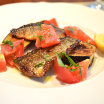 秋刀魚とナスのグリル