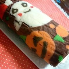 可愛いデコ♡ハロウィンロールケーキ♪