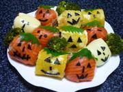 ハロウィンジャックランタン手まり寿司1の写真