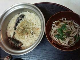 サンマ粥と蕎麦(血管ダイエット食963)