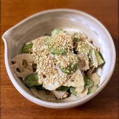 【秋の薬膳】れんこんときゅうりのサラダ