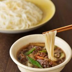 牛ごぼうつけ麺(白石温麺)