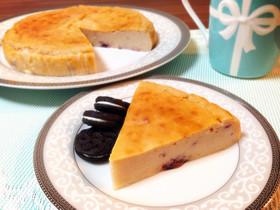 簡単*ブルーベリーヨーグルトチーズケーキ
