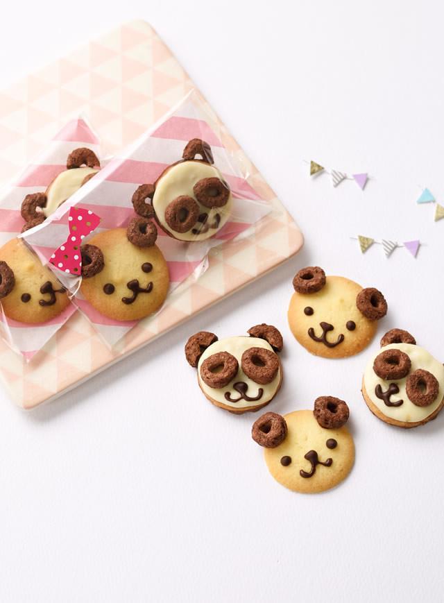 耳がかわいい!どうぶつチョコワクッキー