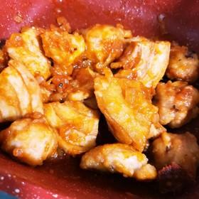 鶏胸肉とお麸のエビチリ風