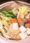 ウェイパーと鰹ダシの塩バターちゃんこ鍋