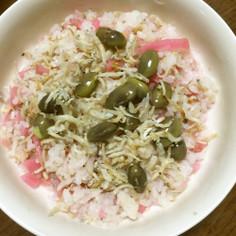 丹波の黒枝豆とさくら漬けのじゃこ飯