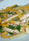 鶏肉de塩チンジャオロース