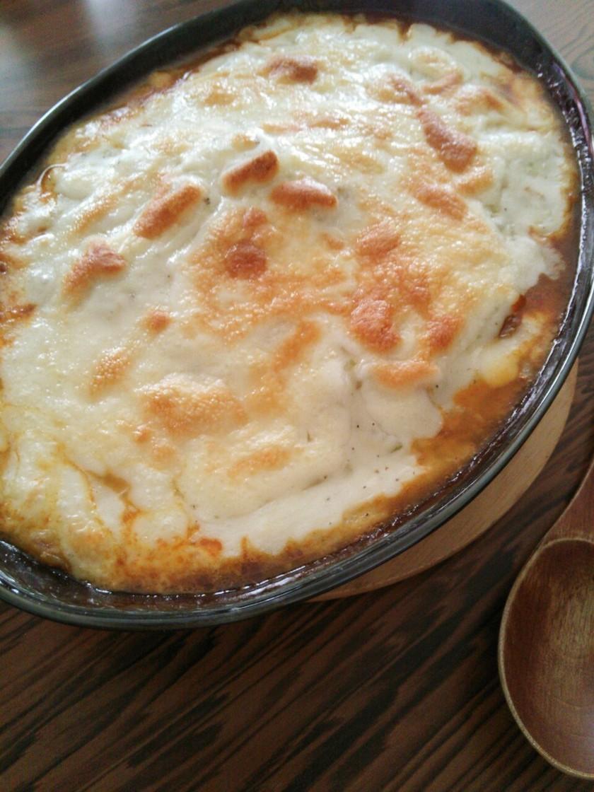 簡単ホワイトソースでカレーチーズドリア風