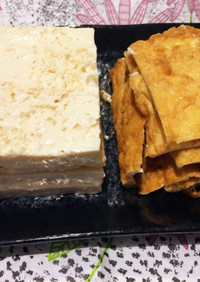 時短!「豆腐の水切り」は厚揚げを利用。