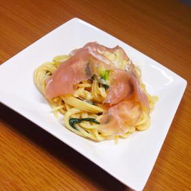 簡単 濃厚生ハムのクリームスパゲッティ