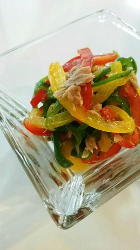 簡単パプリカとピーマンのツナ和え常備菜
